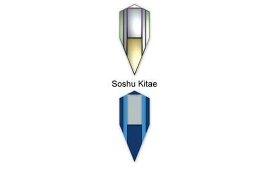 Soshu Acero AISI 1060 + 1045 + 1095